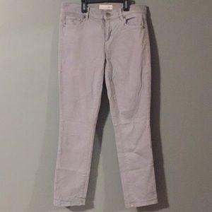 The LOFT gray skinny crop jeans size 25